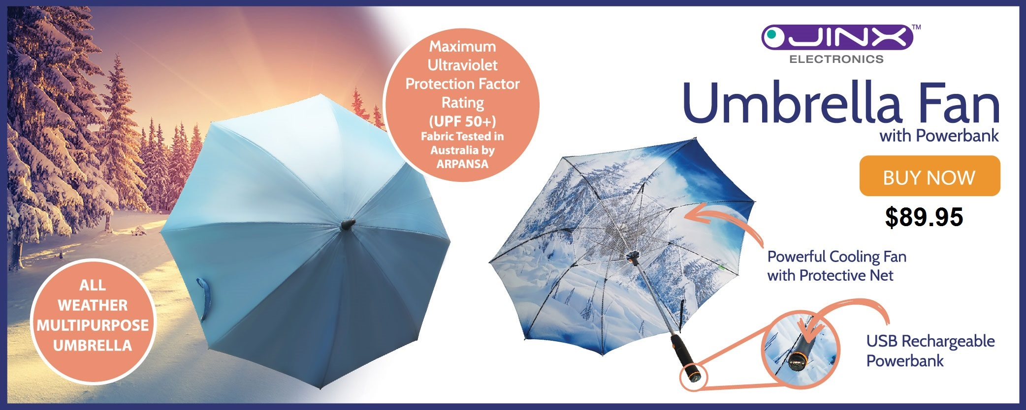JINX UMBRELLA FAN RECHARGEABLE !